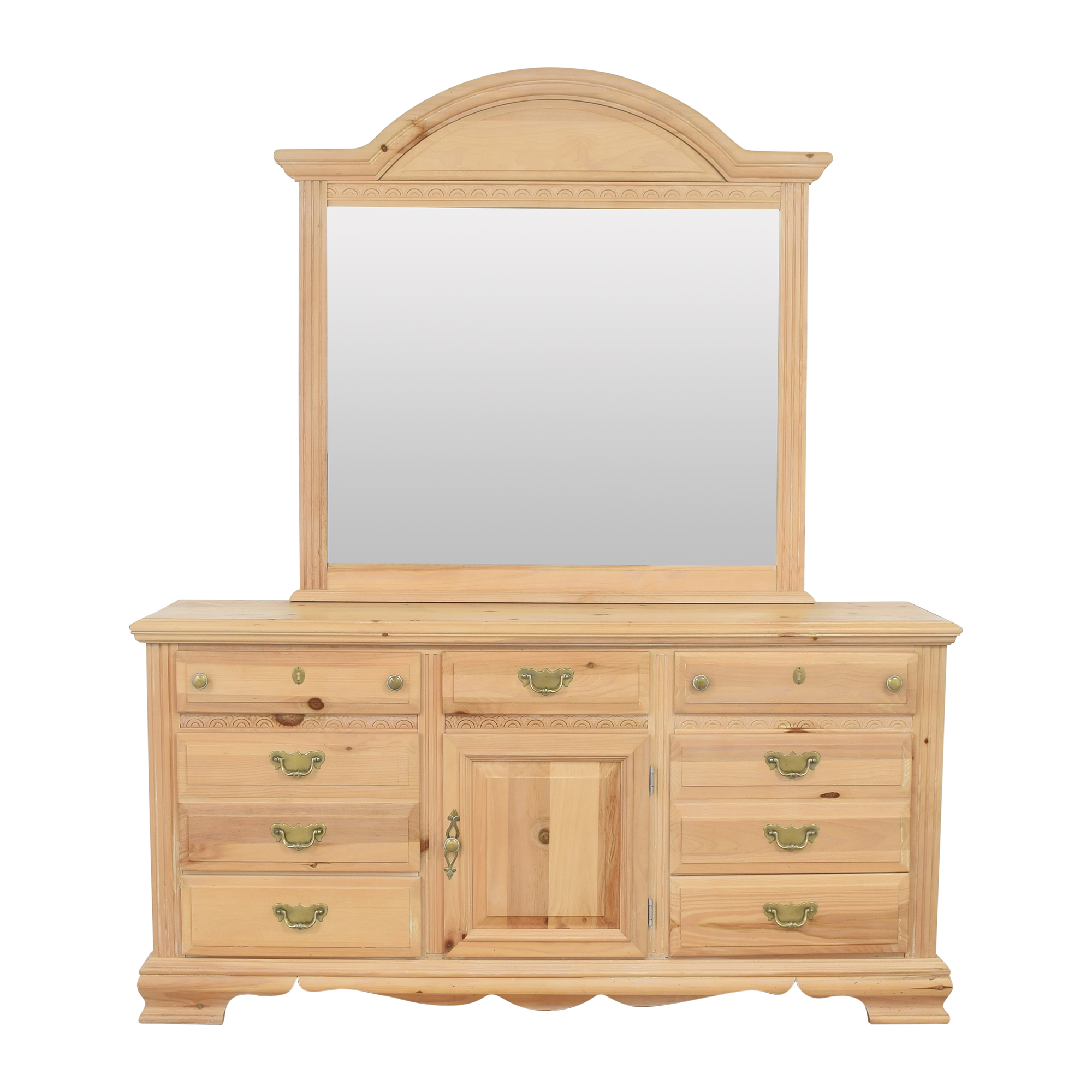 Nine Drawer Dresser with Mirror Storage