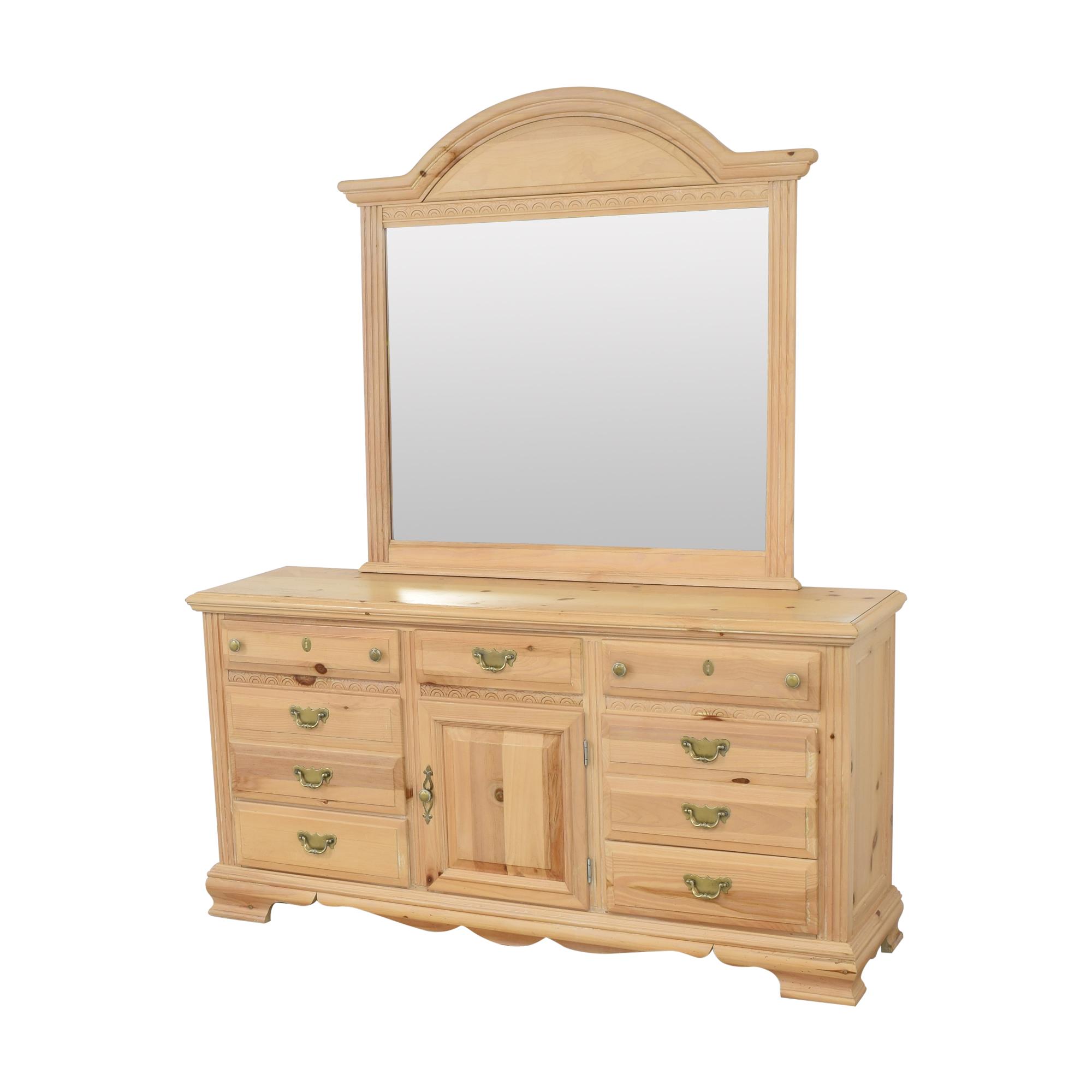 Nine Drawer Dresser with Mirror nj