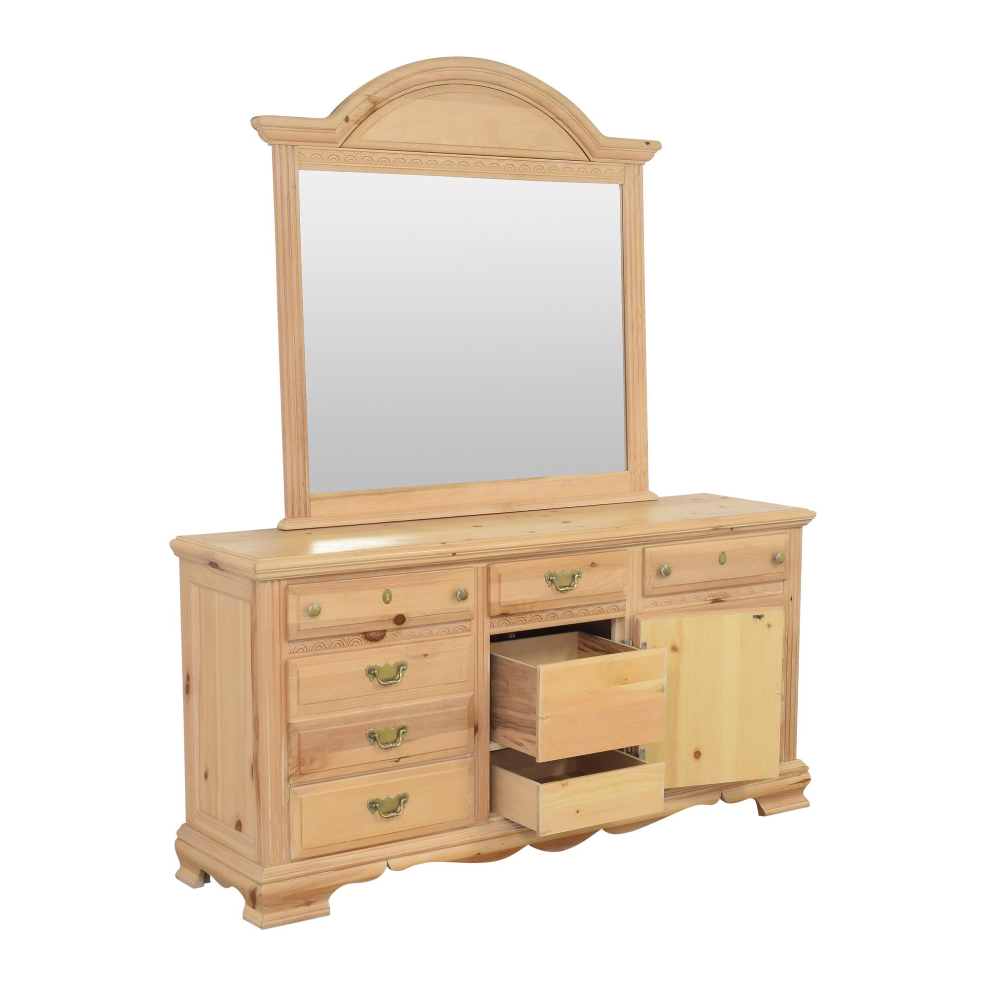 shop Nine Drawer Dresser with Mirror