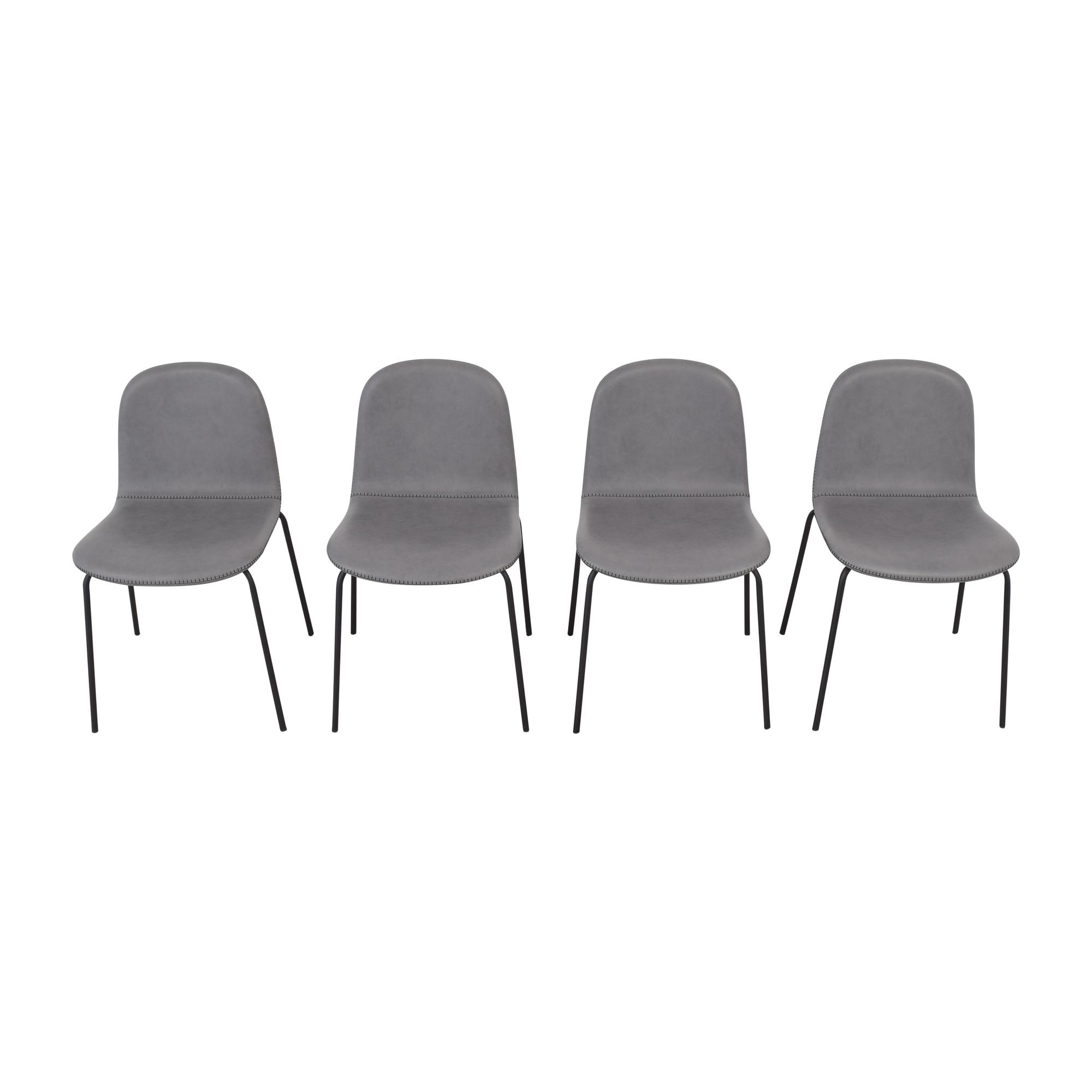 CB2 CB2 Primitivo Grey Chairs used