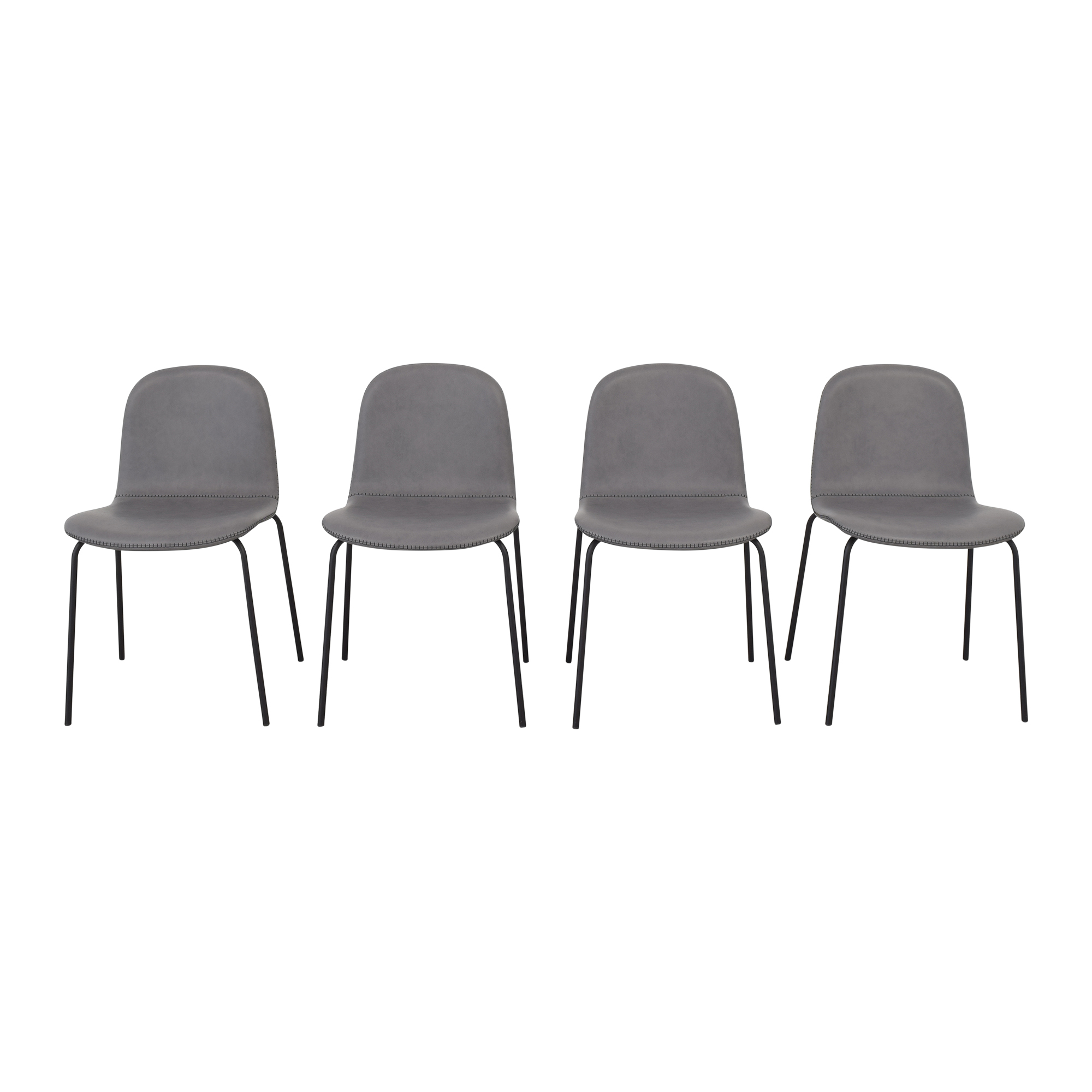 CB2 CB2 Primitivo Grey Chairs Dining Chairs