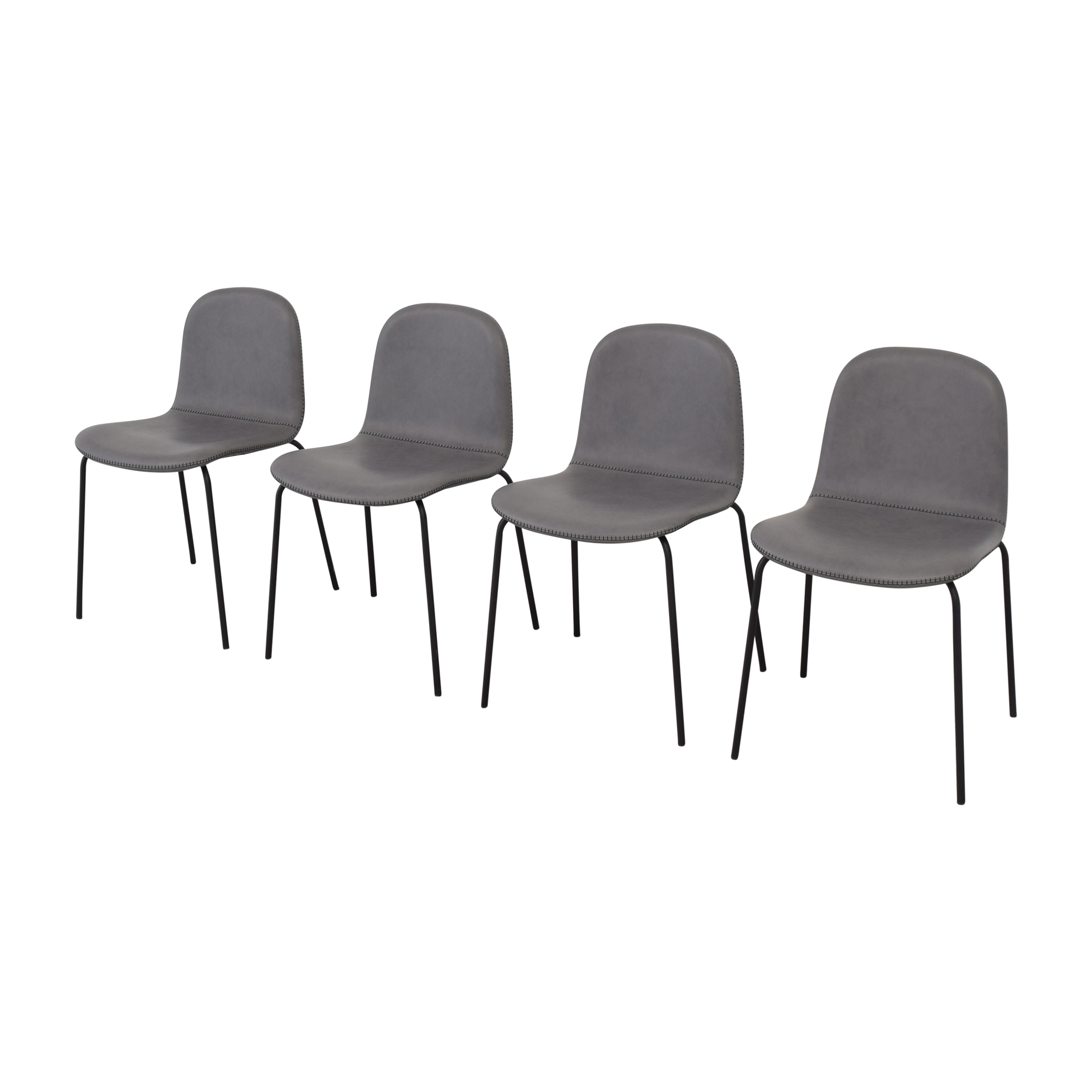 shop CB2 Primitivo Grey Chairs CB2 Dining Chairs