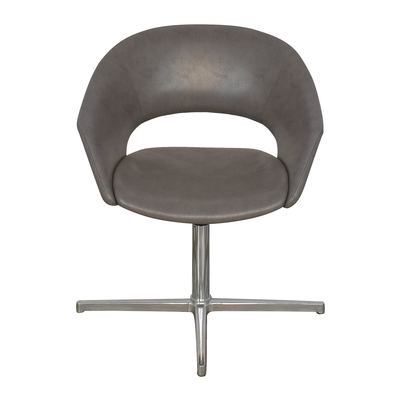 Leland Mod Pedestal Swivel Chair sale