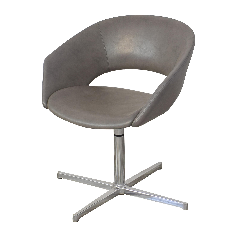 Leland International Leland Mod Pedestal Swivel Chair gray