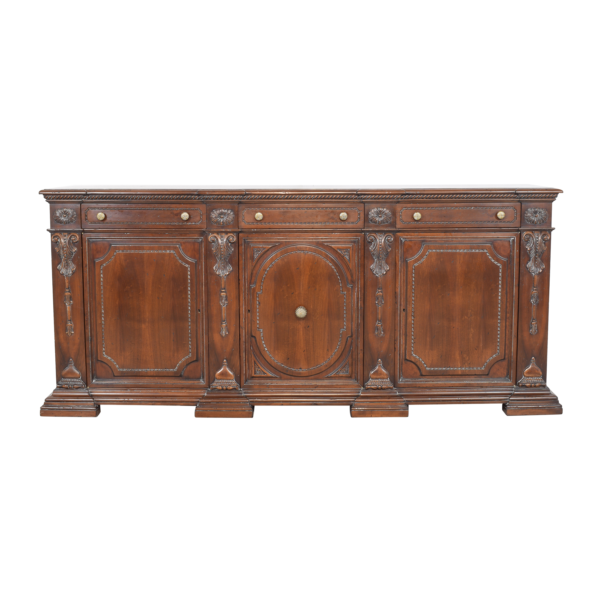 Francesco Molon Francesco Molon XVI Century Carved Sideboard nj