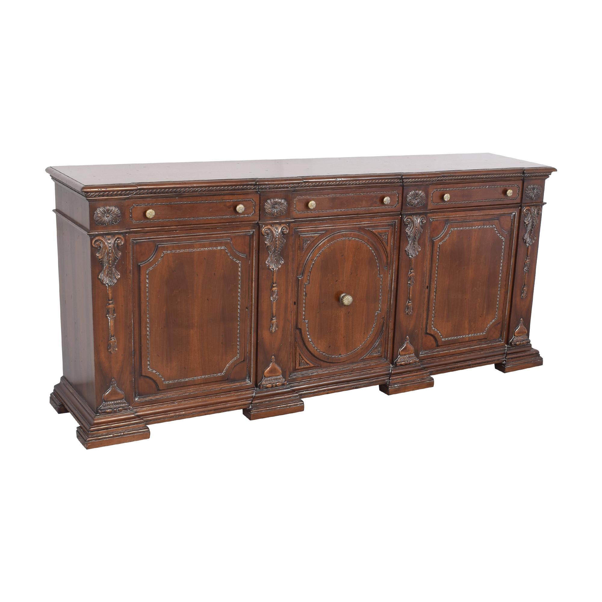 shop Francesco Molon XVI Century Carved Sideboard Francesco Molon Cabinets & Sideboards
