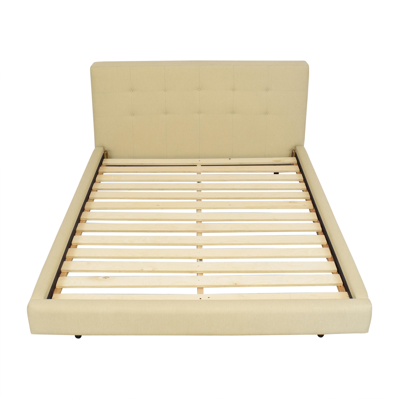 shop Crate & Barrel Tate Upholstered Queen Bed Crate & Barrel Beds