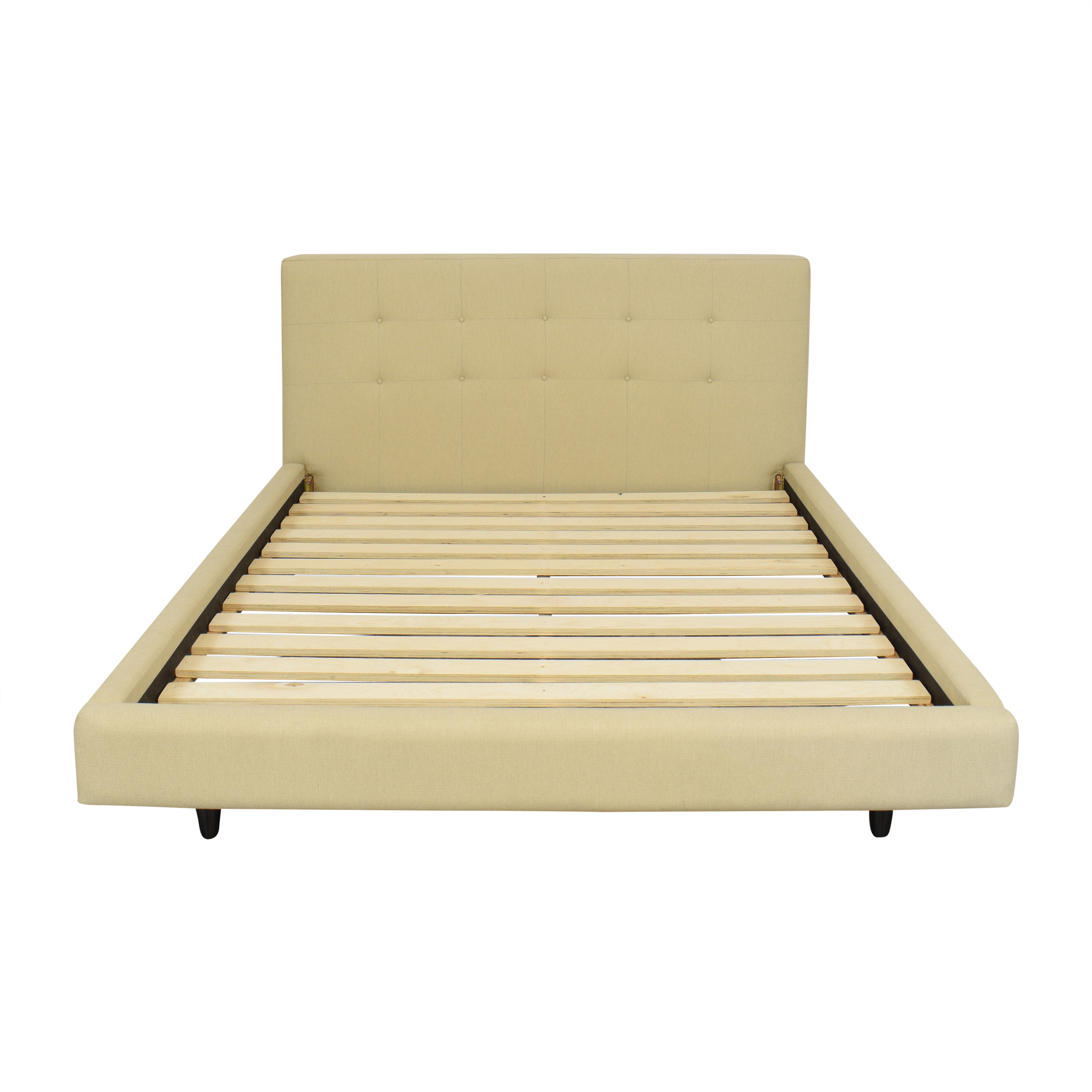 Crate & Barrel Tate Upholstered Queen Bed Crate & Barrel