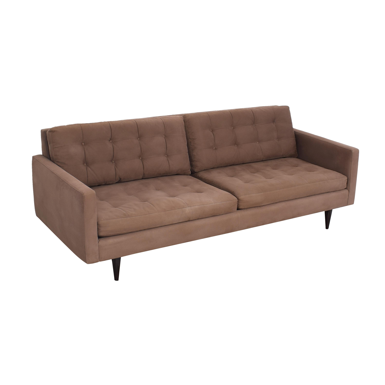 buy Crate & Barrel Petrie Mid Century Sofa Crate & Barrel