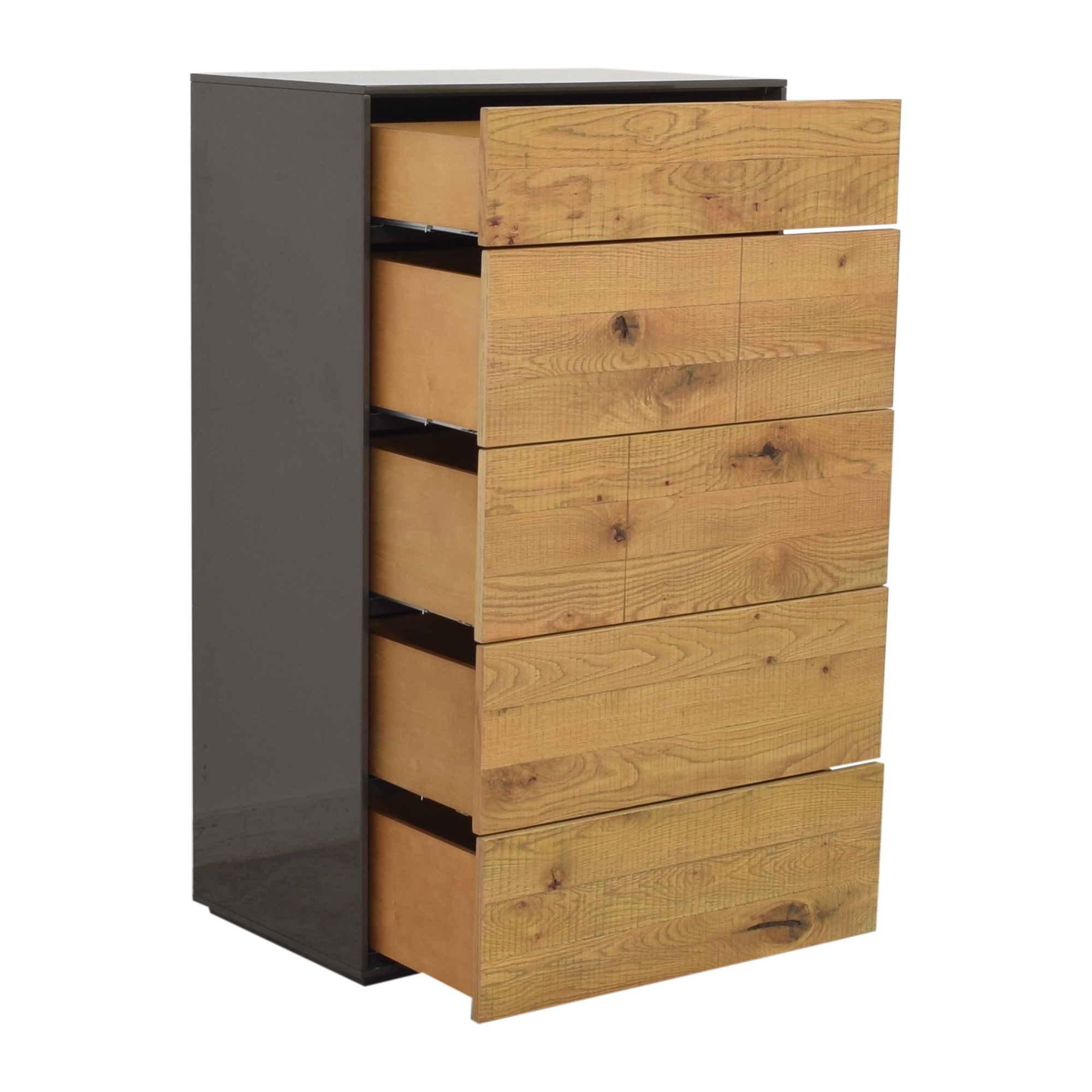shop Crate & Barrel Cas Five Drawer Modern Rustic Chest Crate & Barrel Storage