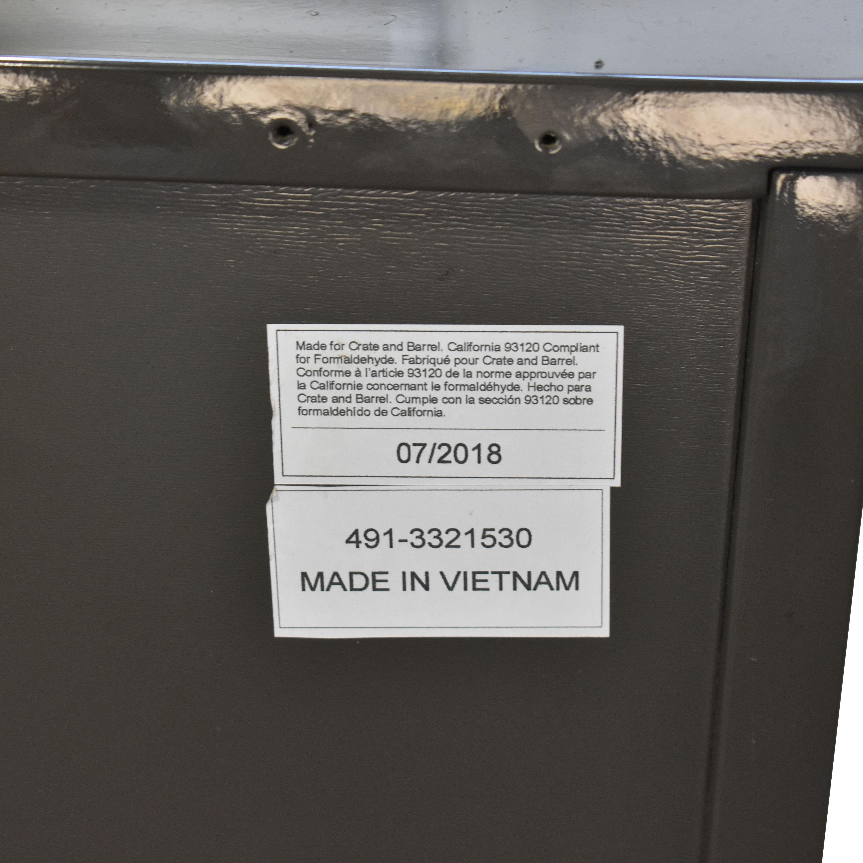 Crate & Barrel Crate & Barrel Cas Modern Rustic Nightstand grey