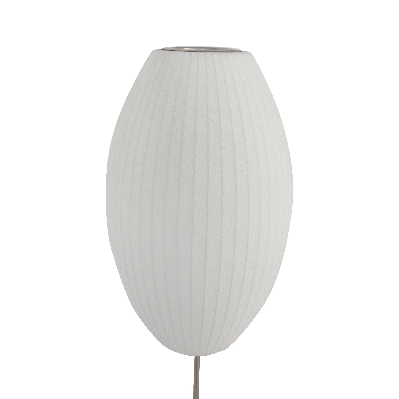 Modernica Modernica Nelson Bubble Lamps Cigar Lotus Floor Lamp White & Silver