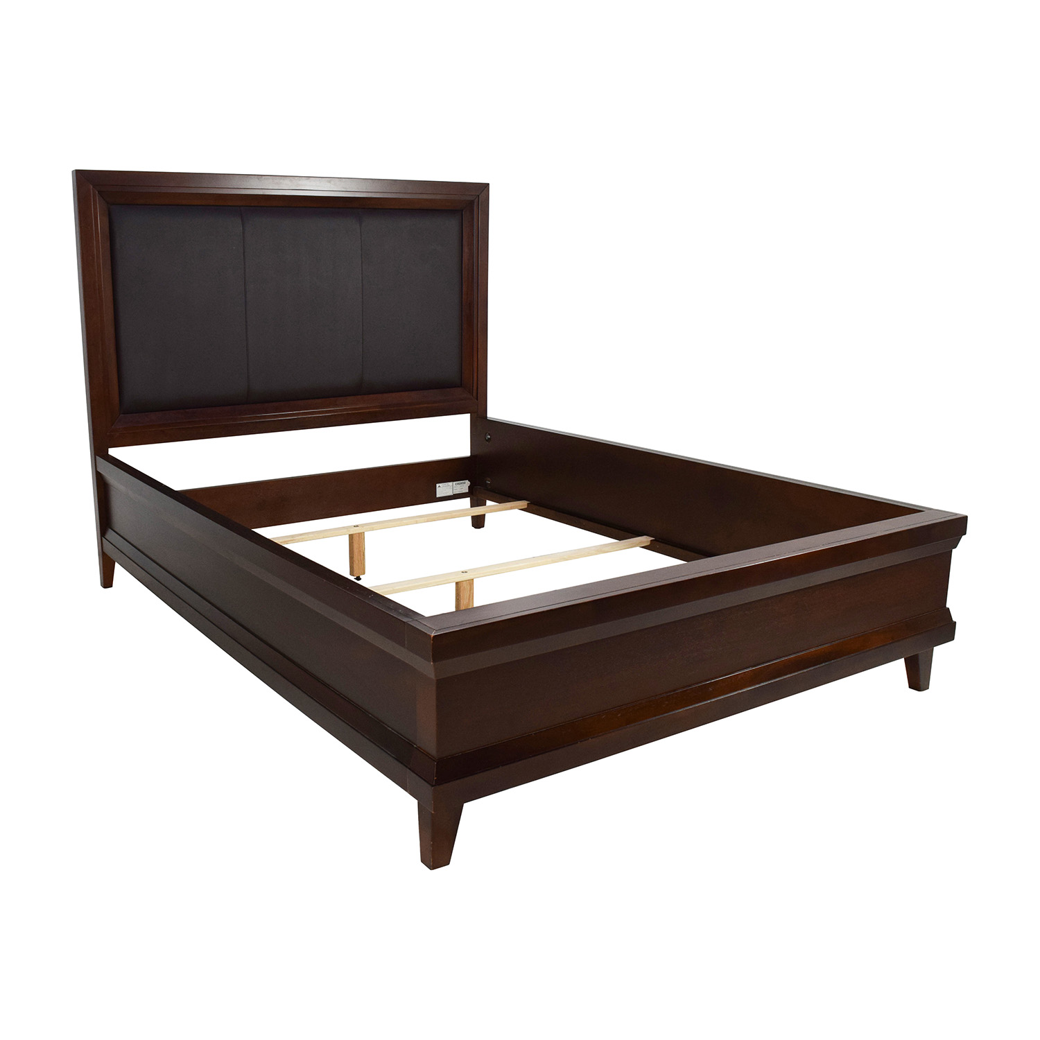 Raymour And Flanigan Vista Queen Bed With Leather Headboard Online