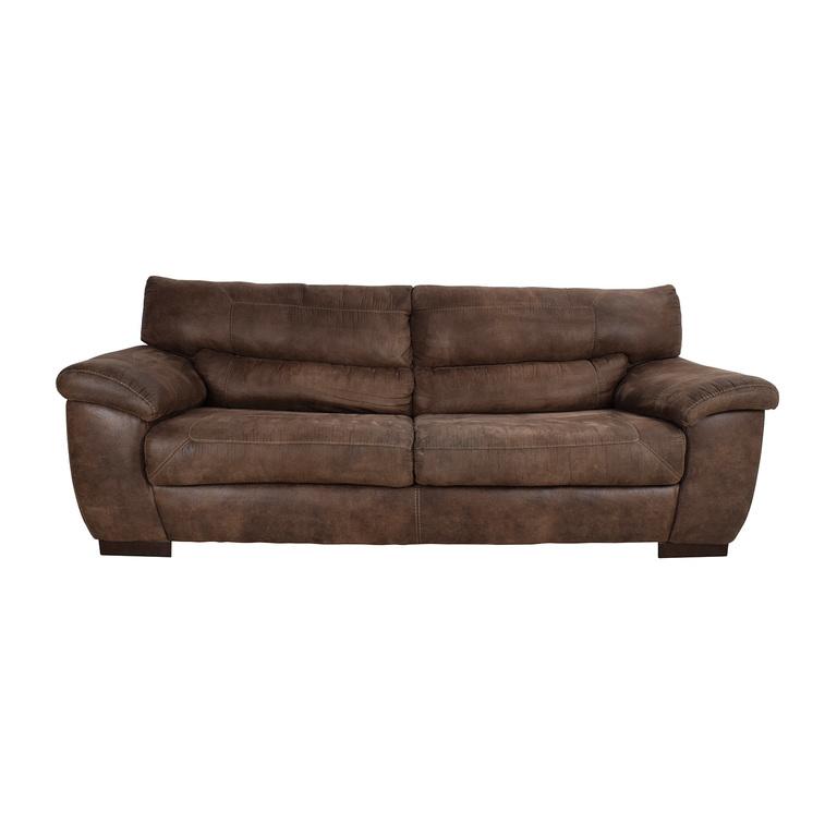 shop Jennifer Convertibles Jennifer Convertibles Brown Sofa online