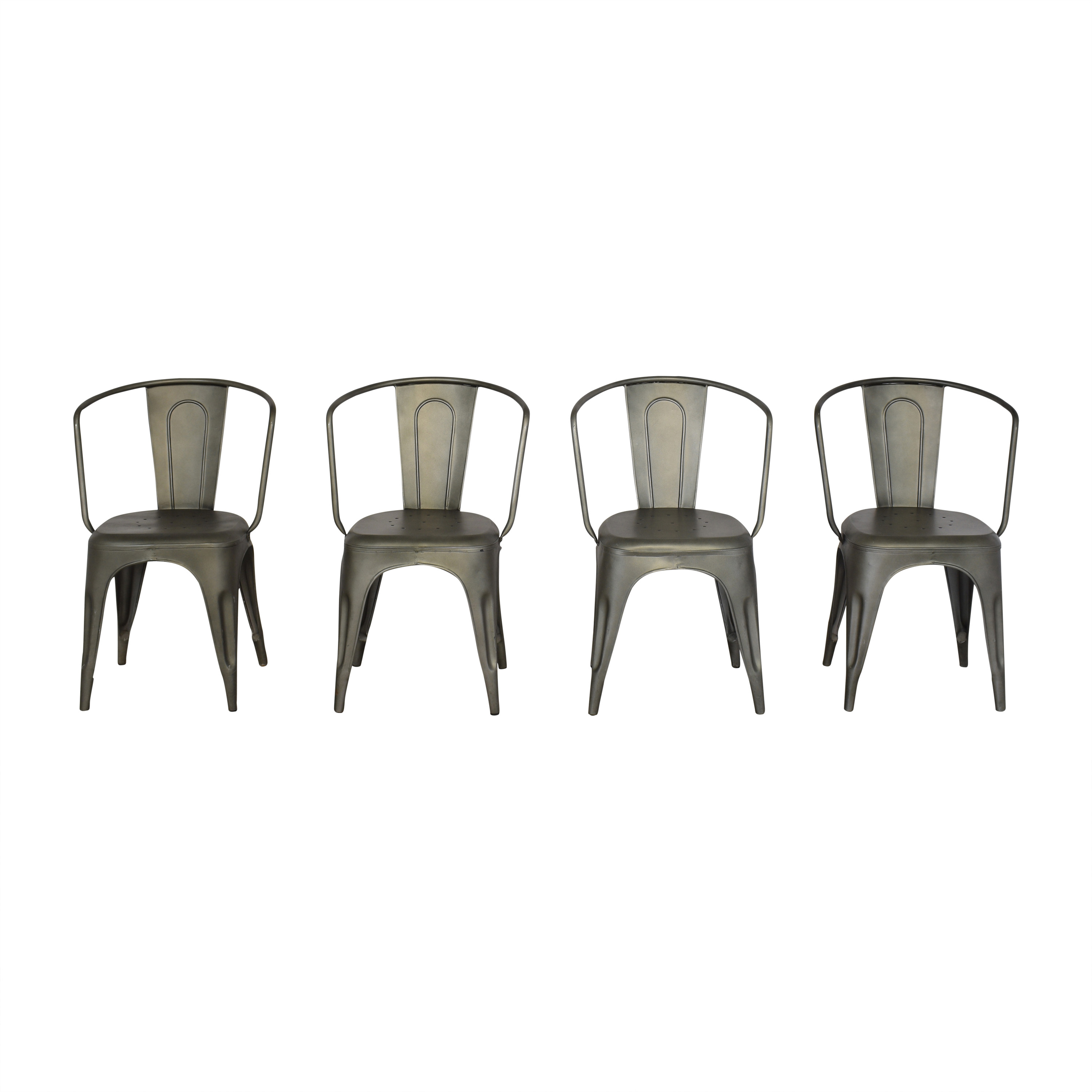 Restoration Hardware Restoration Hardware Marcel Dining Arm Chairs for sale