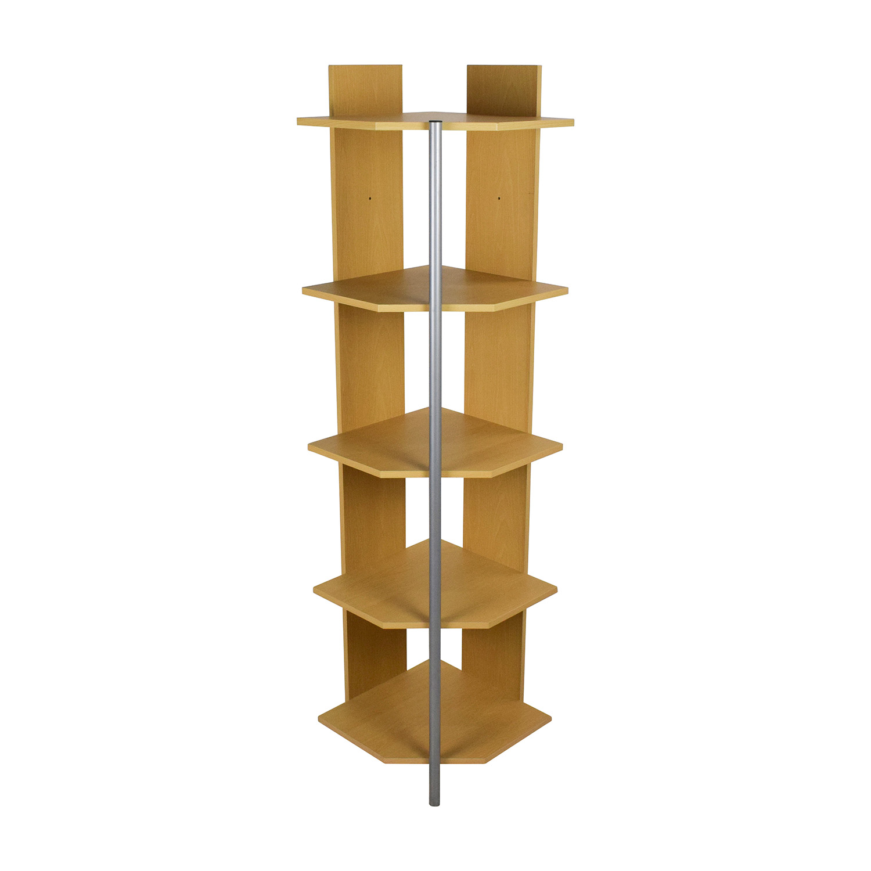 Natural Corner Bookcase dimensions