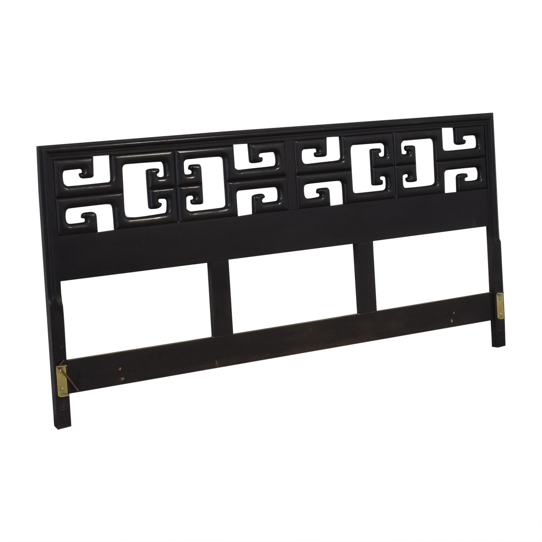 buy Chin Hua Black Burlwood King Headboard
