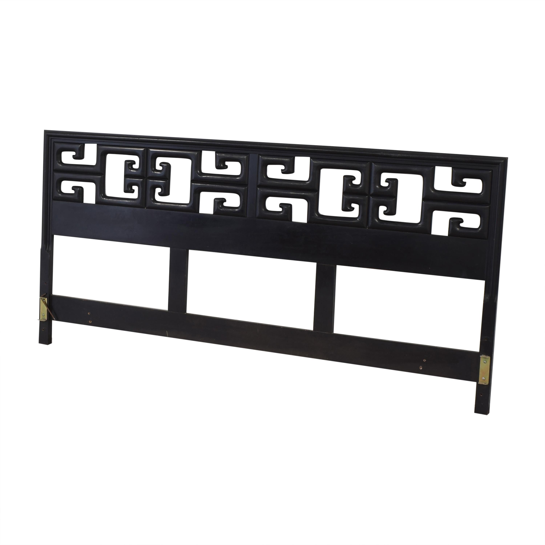 buy Chin Hua Black Burlwood King Headboard  Beds