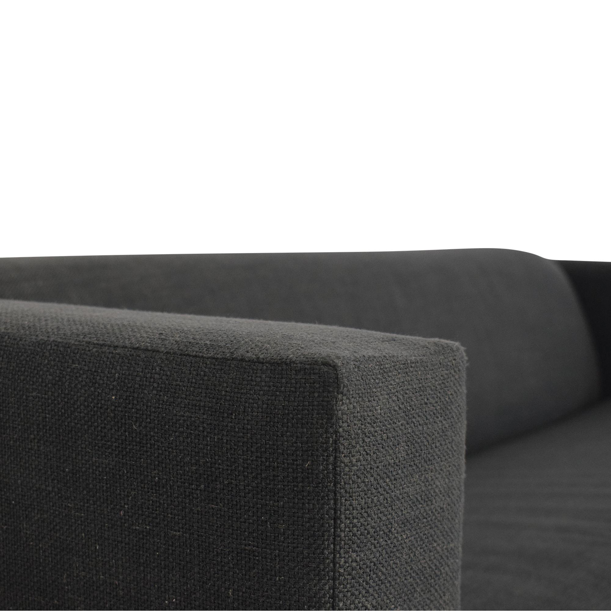 Blu Dot Blu Dot Mono Sleeper Sofa dark gray