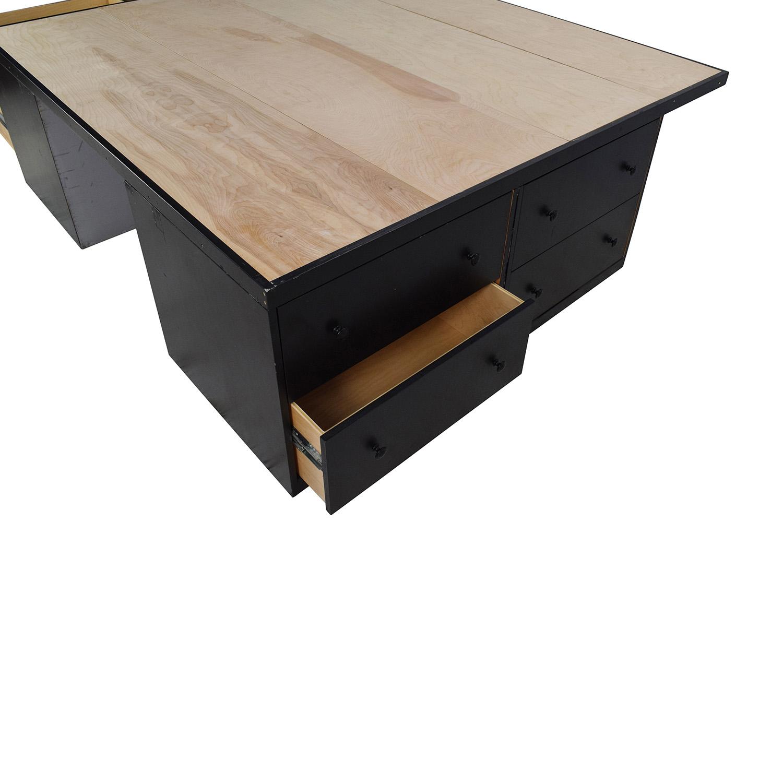 Custom Handmade King Bed Frame with Drawers Custom