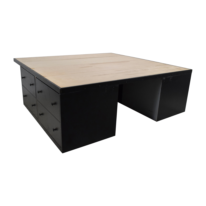 Custom Custom Handmade King Bed Frame with Drawers Bed Frames