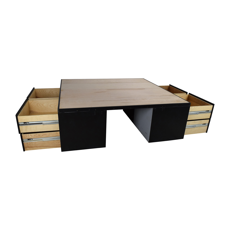 Custom Custom Handmade King Bed Frame with Drawers discount