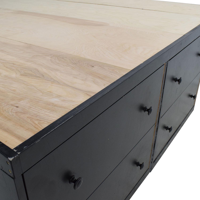 81 off custom custom handmade king bed frame with for Custom made bed frame