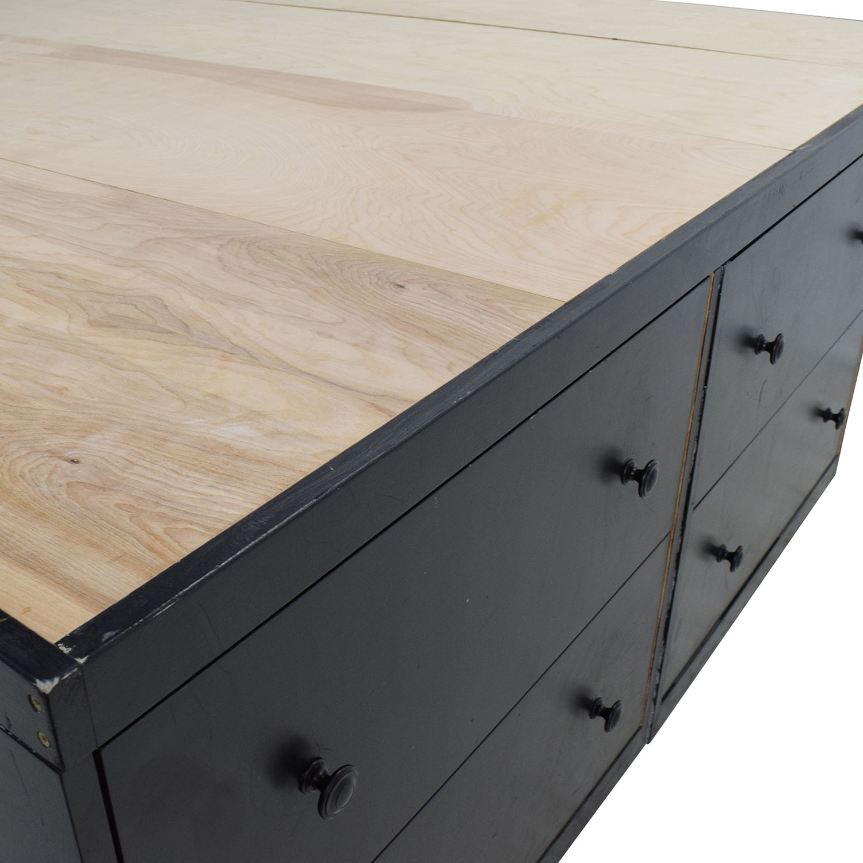 buy Custom Custom Handmade King Bed Frame with Drawers online