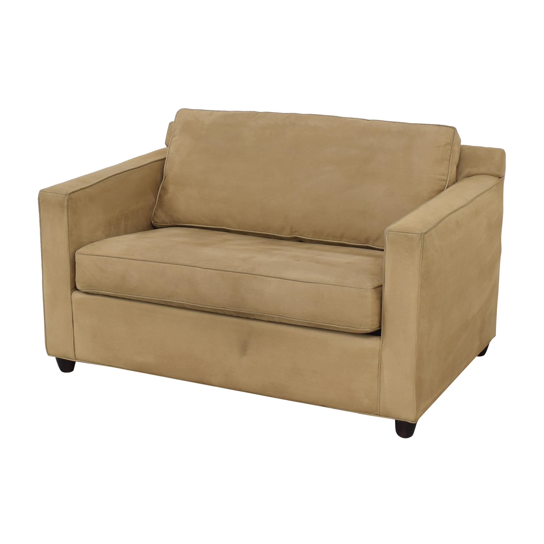 buy Crate & Barrel Troy Twin Sleeper Sofa Crate & Barrel