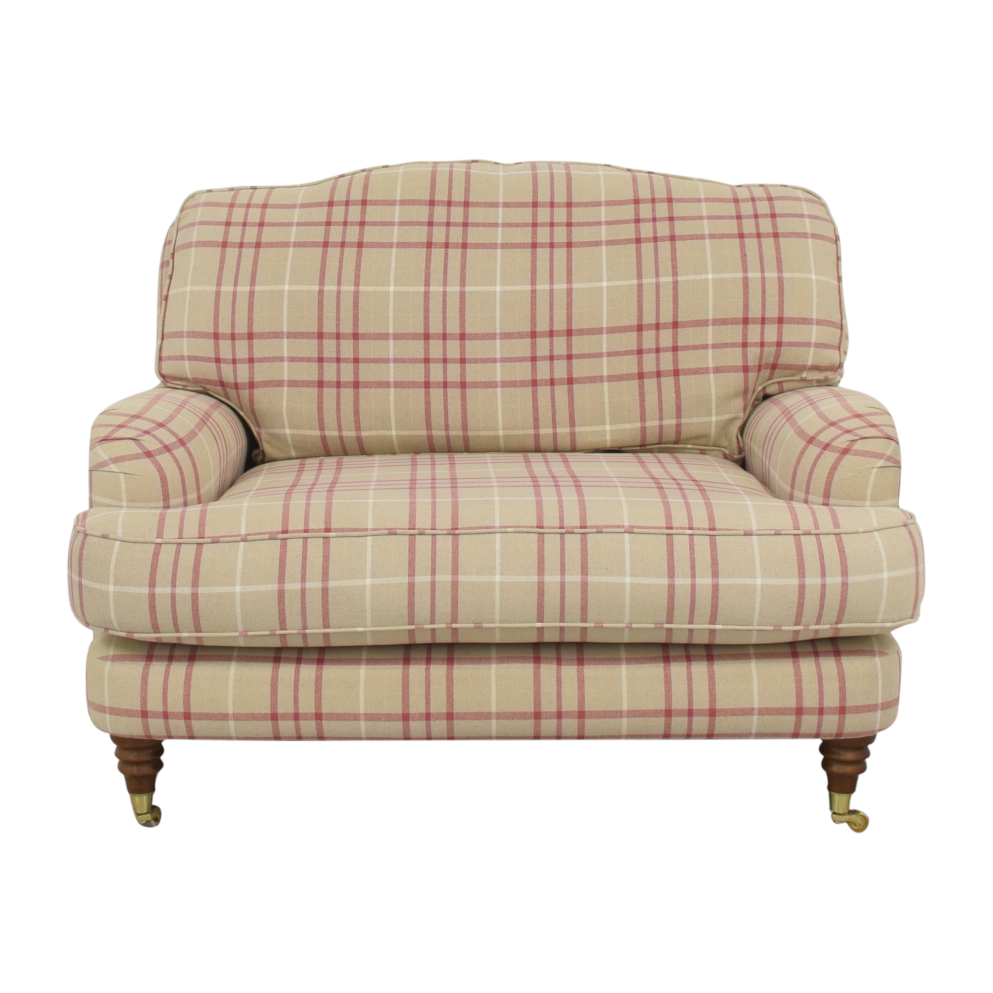 shop Laura Ashley Lynden Snuggler Chair and a Half Laura Ashley