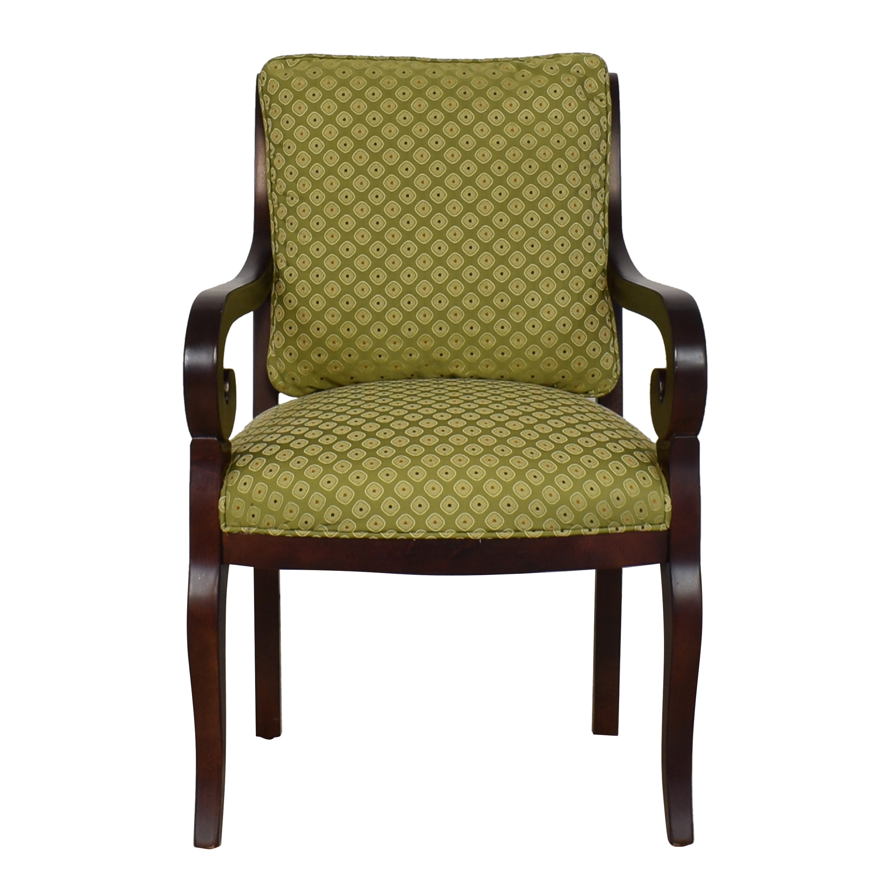Fairfield Chair Company Fairfield Chair with Kravet Fabric dark brown and green