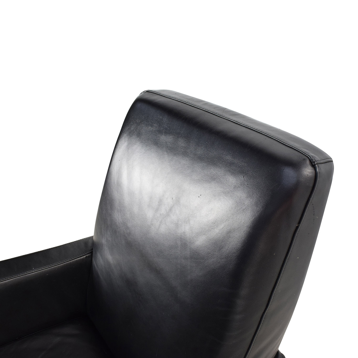 ... Shop Natuzzi Natuzzi Black Leather Swivel Chair With Ottoman Online ...