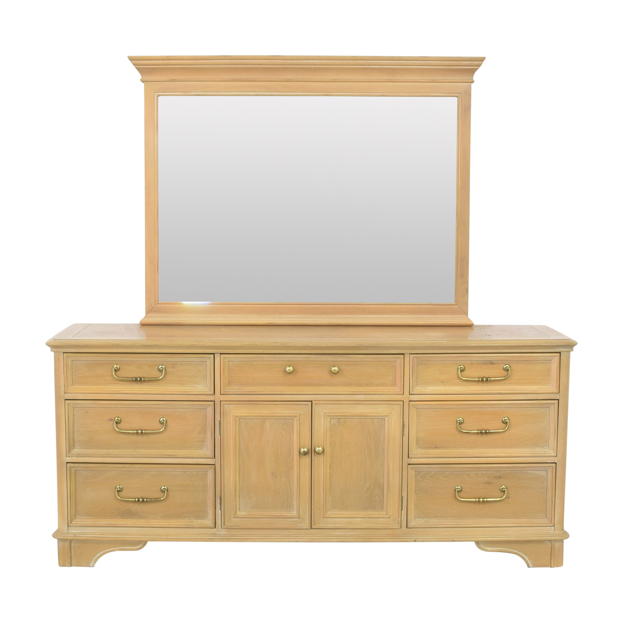 Bernhardt Triple Dresser with Mirror / Dressers