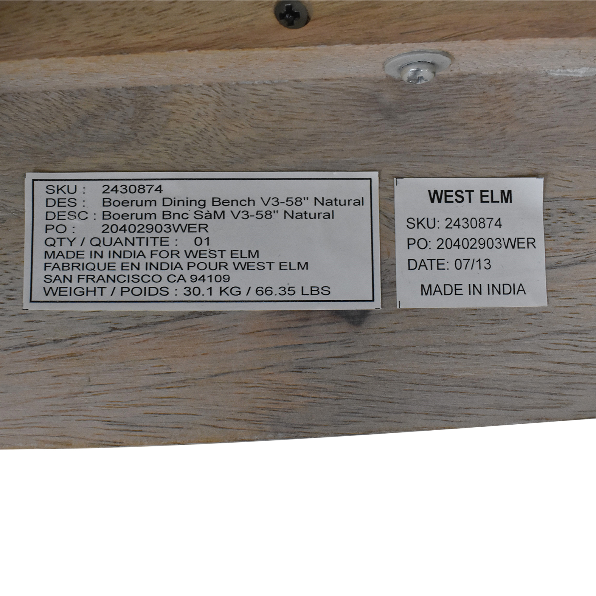 buy West Elm Boerum Dining Bench West Elm Benches