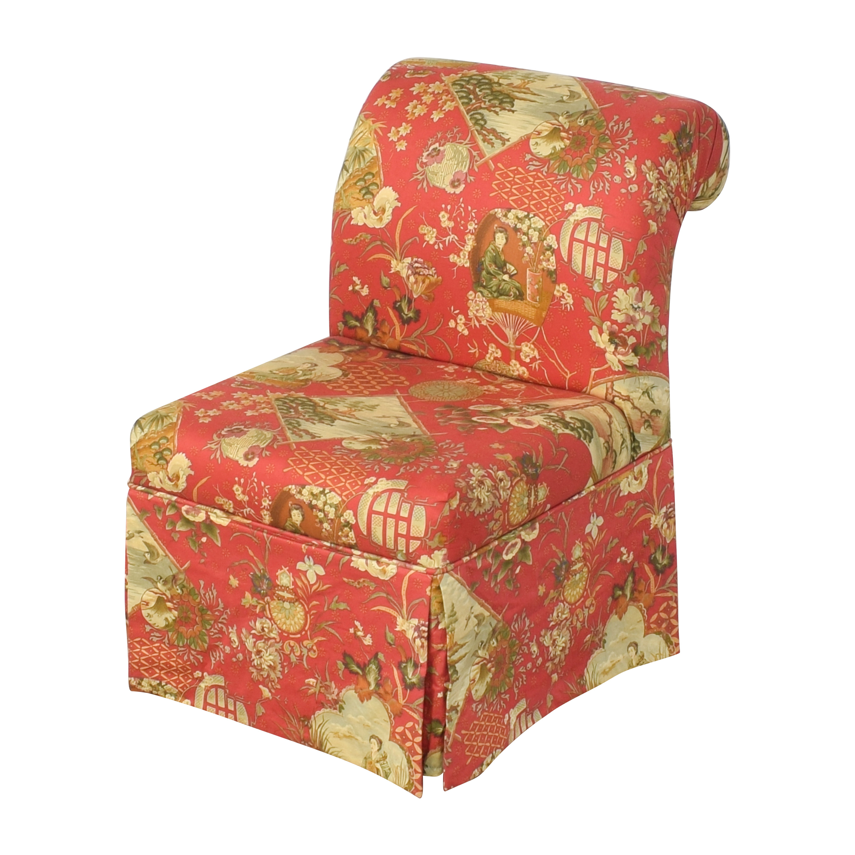 57 Off Carolina Accents Skirted Slipper Chair Chairs