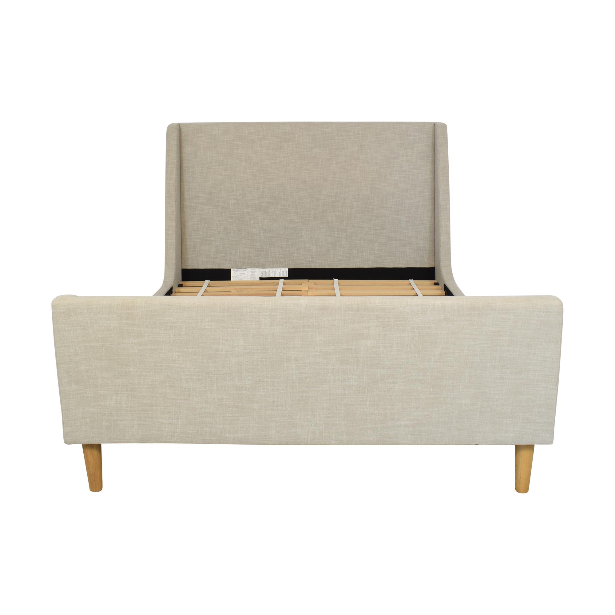 West Elm West Elm Queen Upholstered Sleigh Bed discount