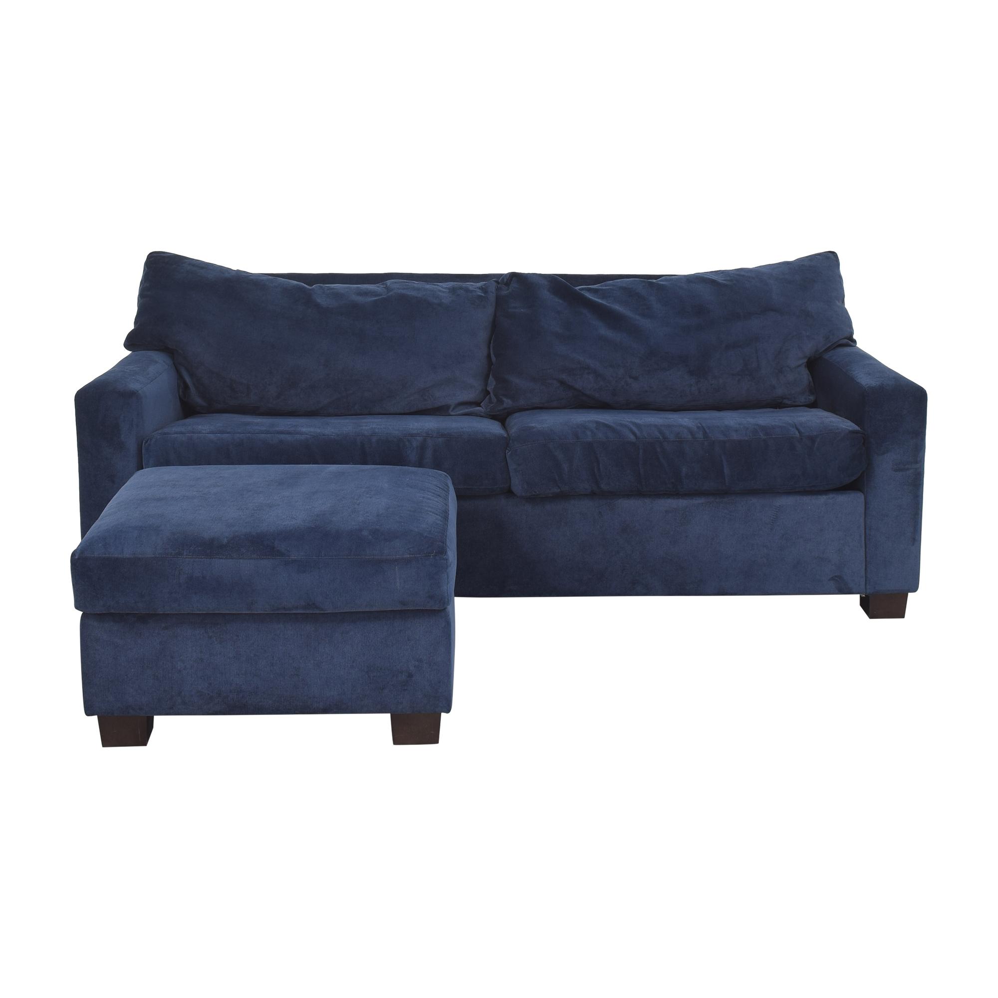 Mitchell Gold + Bob Williams Sleeper Sofa & Ottoman / Sofa Beds