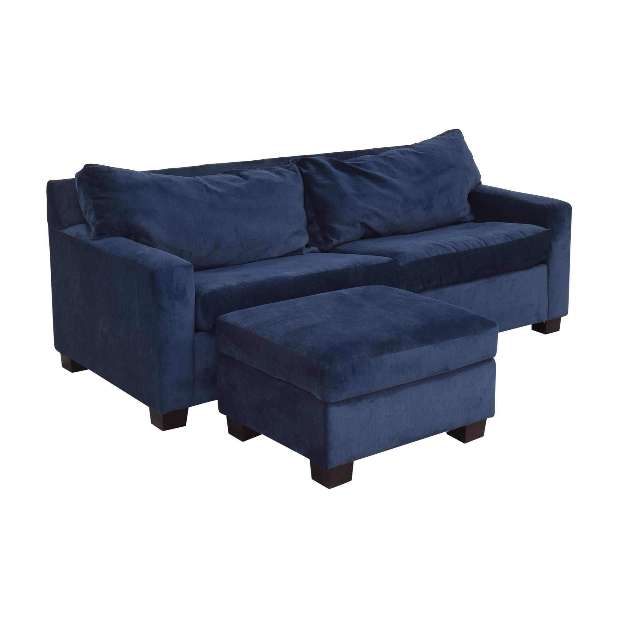 Mitchell Gold + Bob Williams Mitchell Gold + Bob Williams Sleeper Sofa & Ottoman for sale