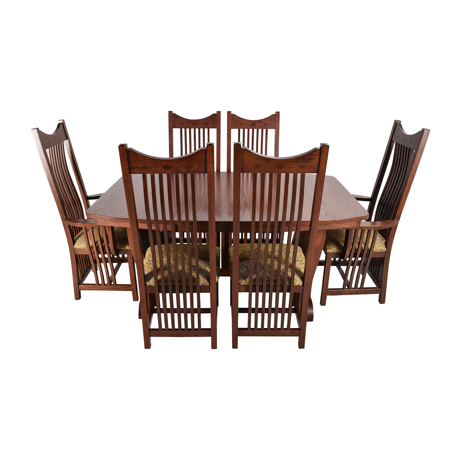 Homestead Furniture Classic Mission Solid Oak Dining Set / Tables