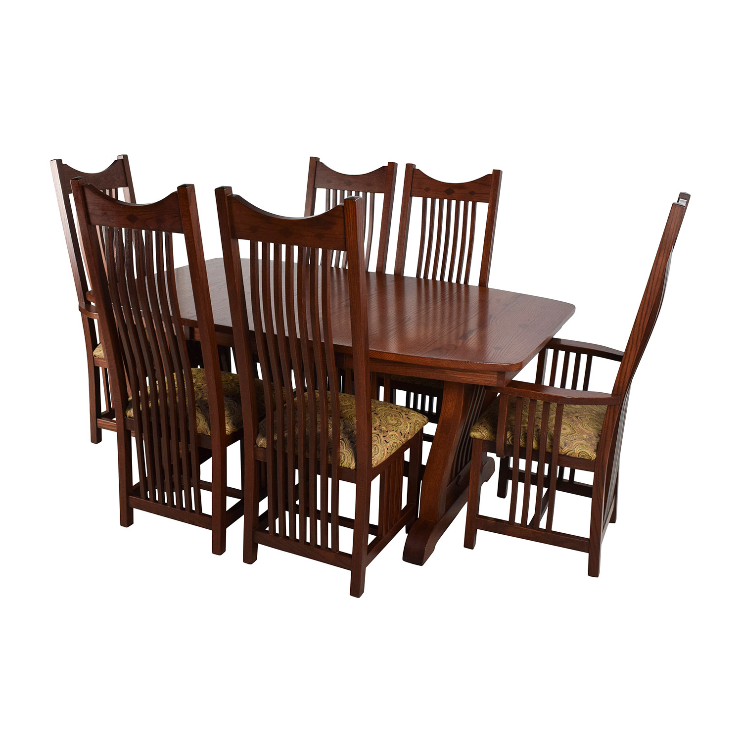 Homestead Furniture Homestead Furniture Classic Mission Solid Oak Dining Set discount