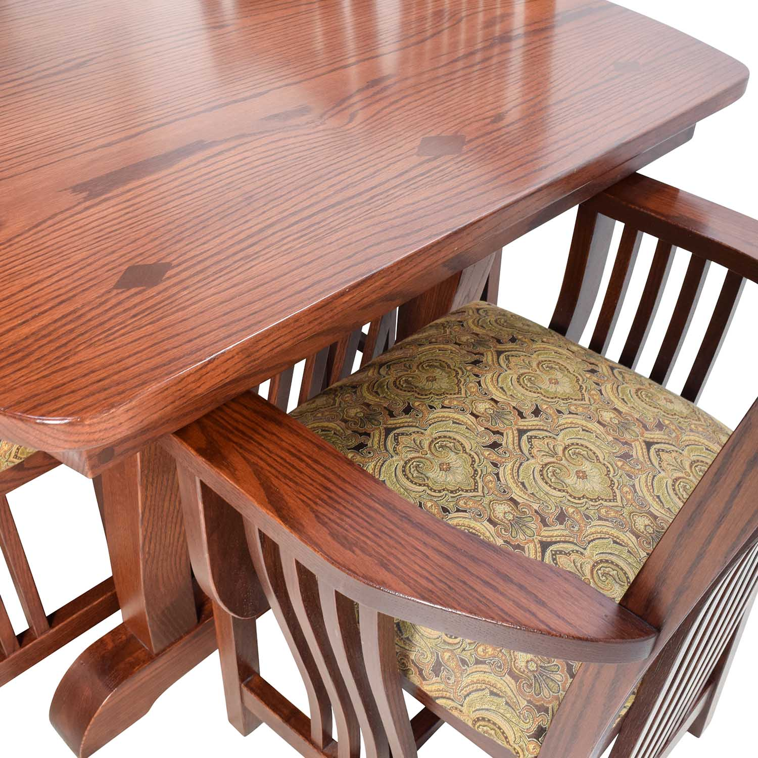 Homestead Furniture Homestead Furniture Classic Mission Solid Oak Dining Set nyc