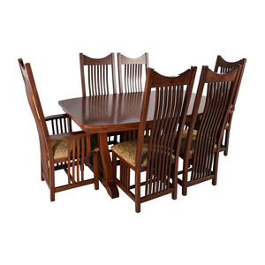 Homestead Furniture Homestead Furniture Classic Mission Solid Oak Dining Set on sale