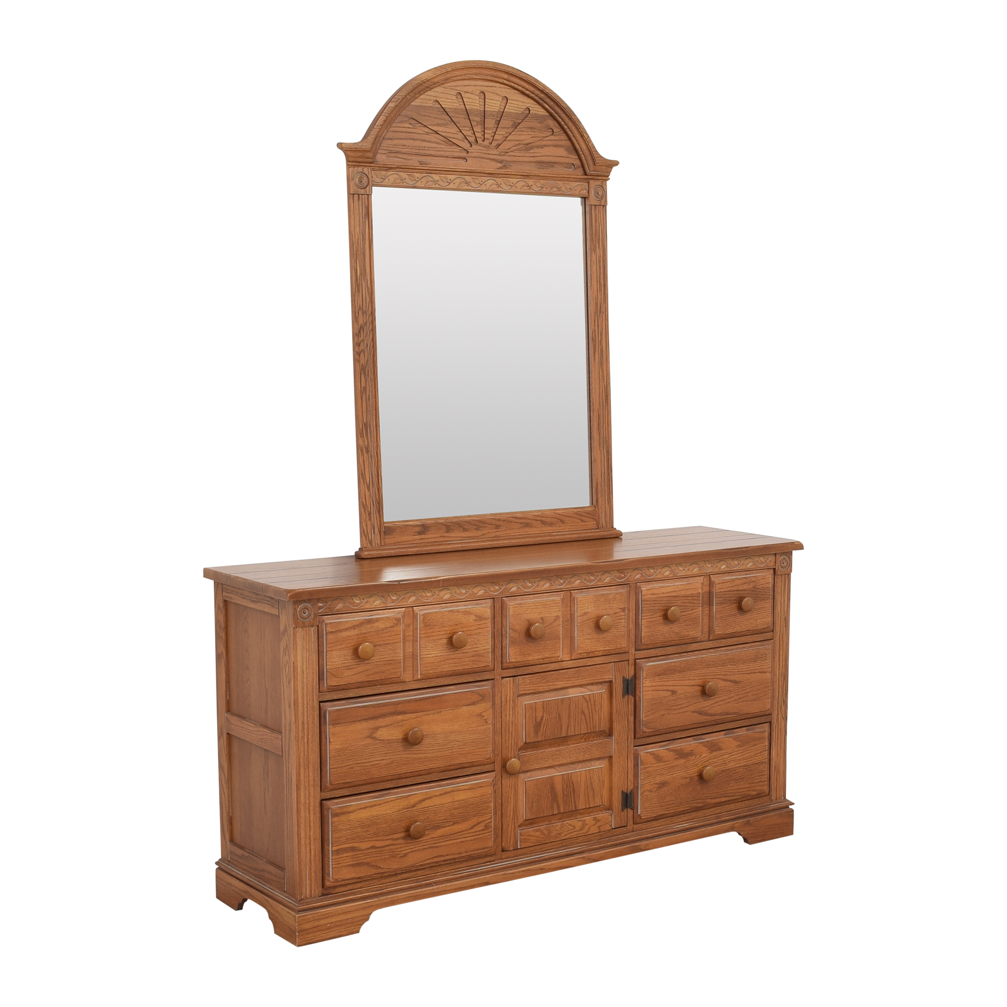 Broyhill Furniture Broyhill Door Dresser with Mirror for sale