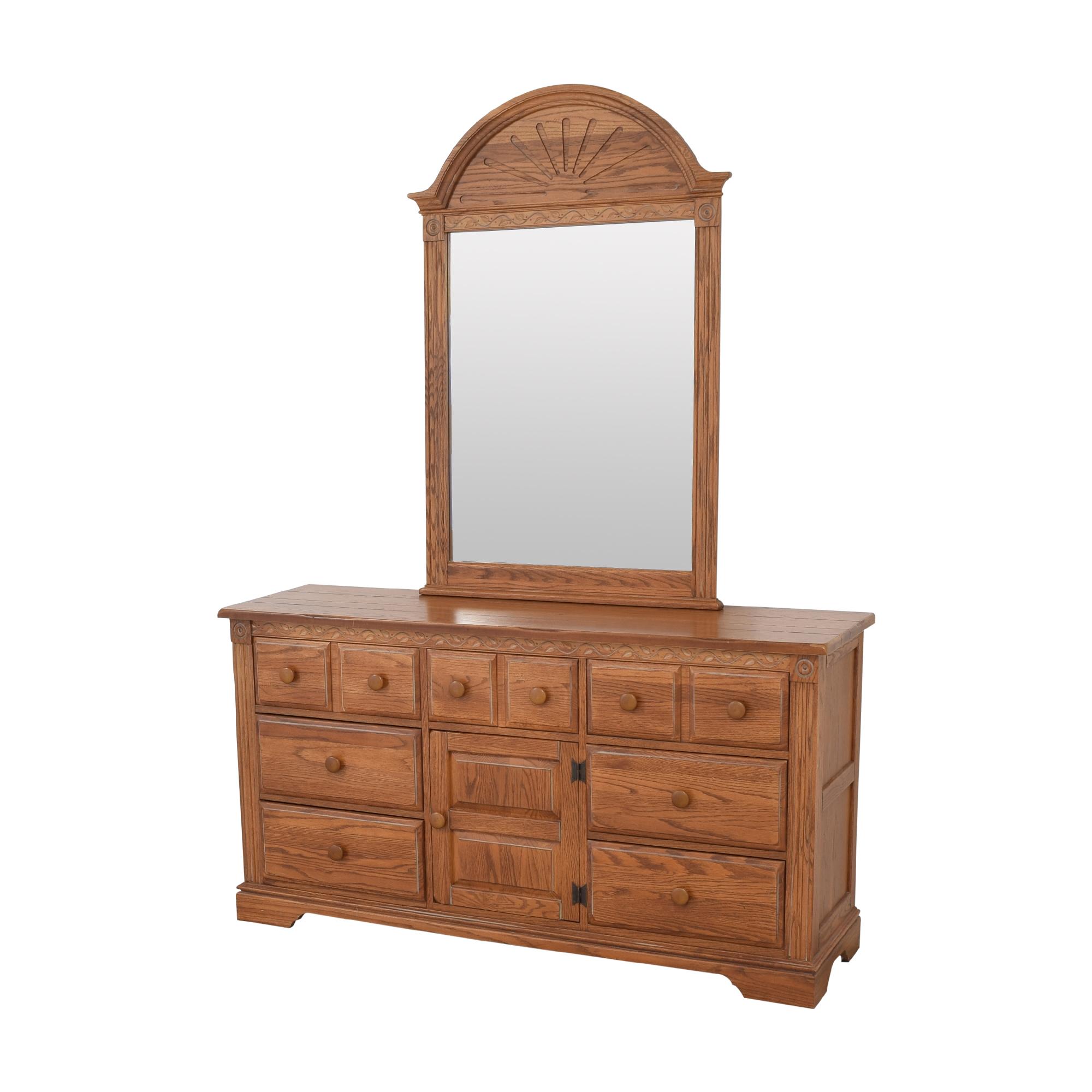 buy Broyhill Door Dresser with Mirror Broyhill Furniture Storage