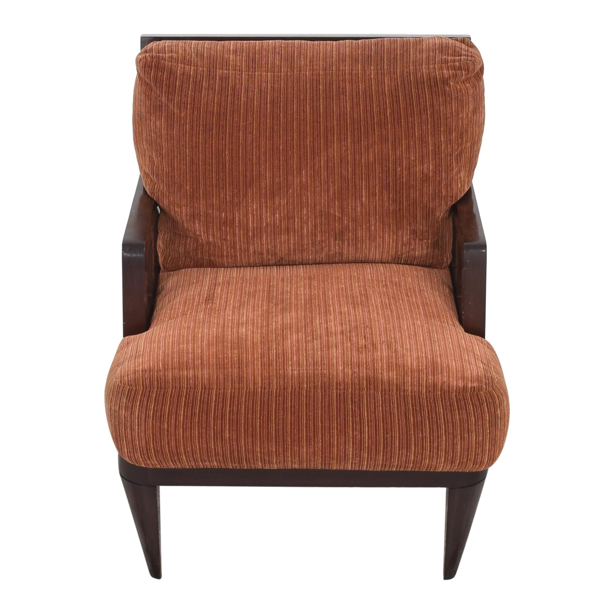 Berman   Rosetti Berman   Rosetti Fretwork Lounge Armchair brown & red