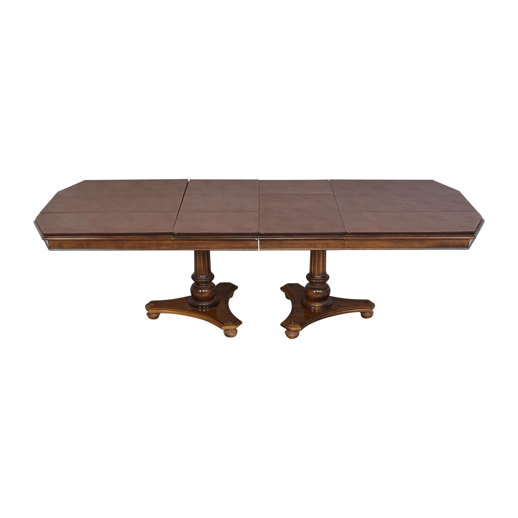 Ethan Allen Ethan Allen Extendable Double Pedestal Dining Table on sale