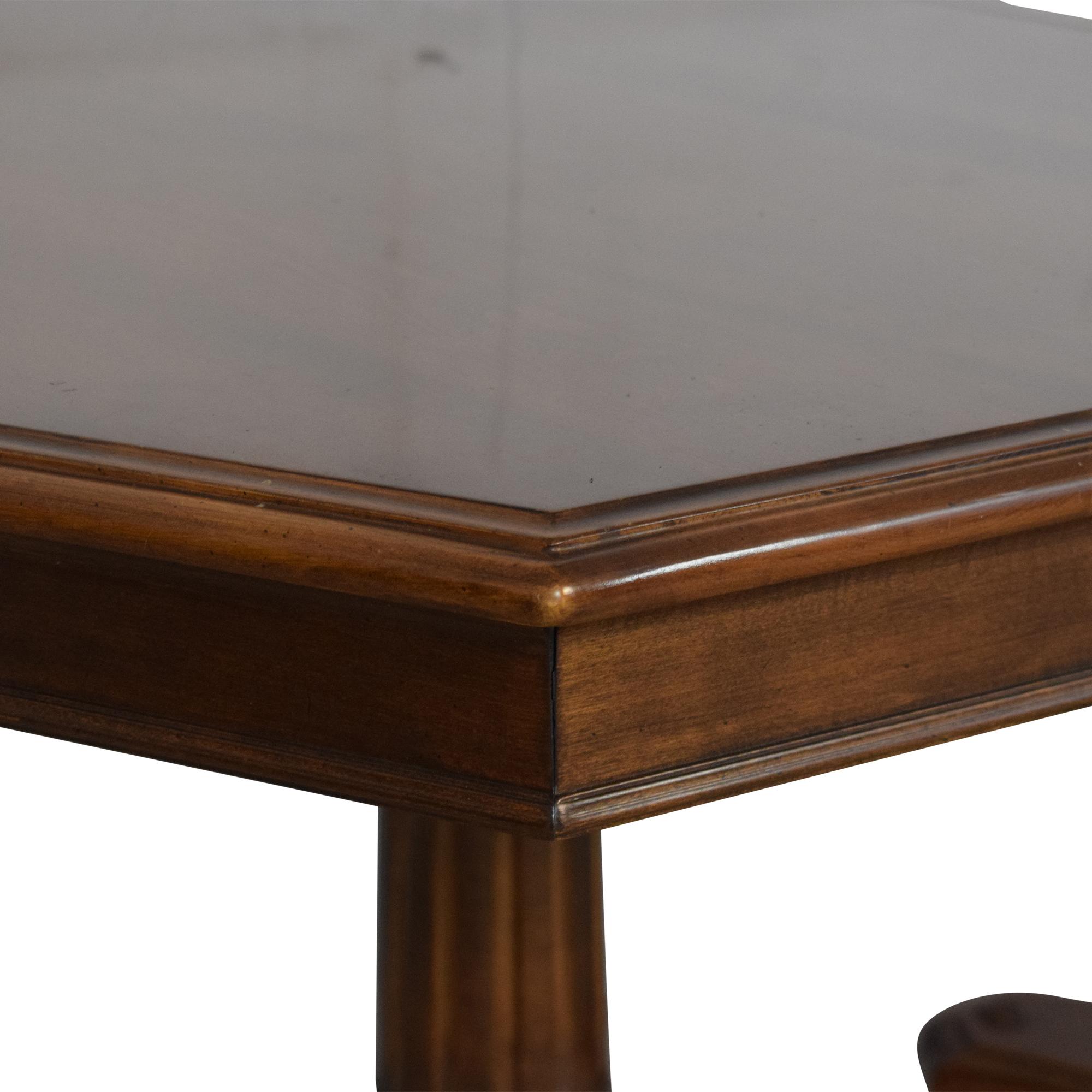 Ethan Allen Extendable Double Pedestal Dining Table Ethan Allen