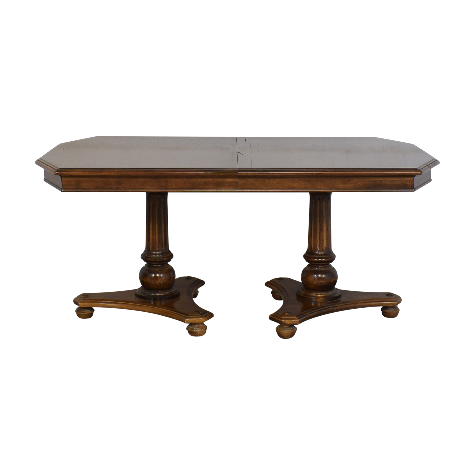 buy Ethan Allen Extendable Double Pedestal Dining Table Ethan Allen Tables
