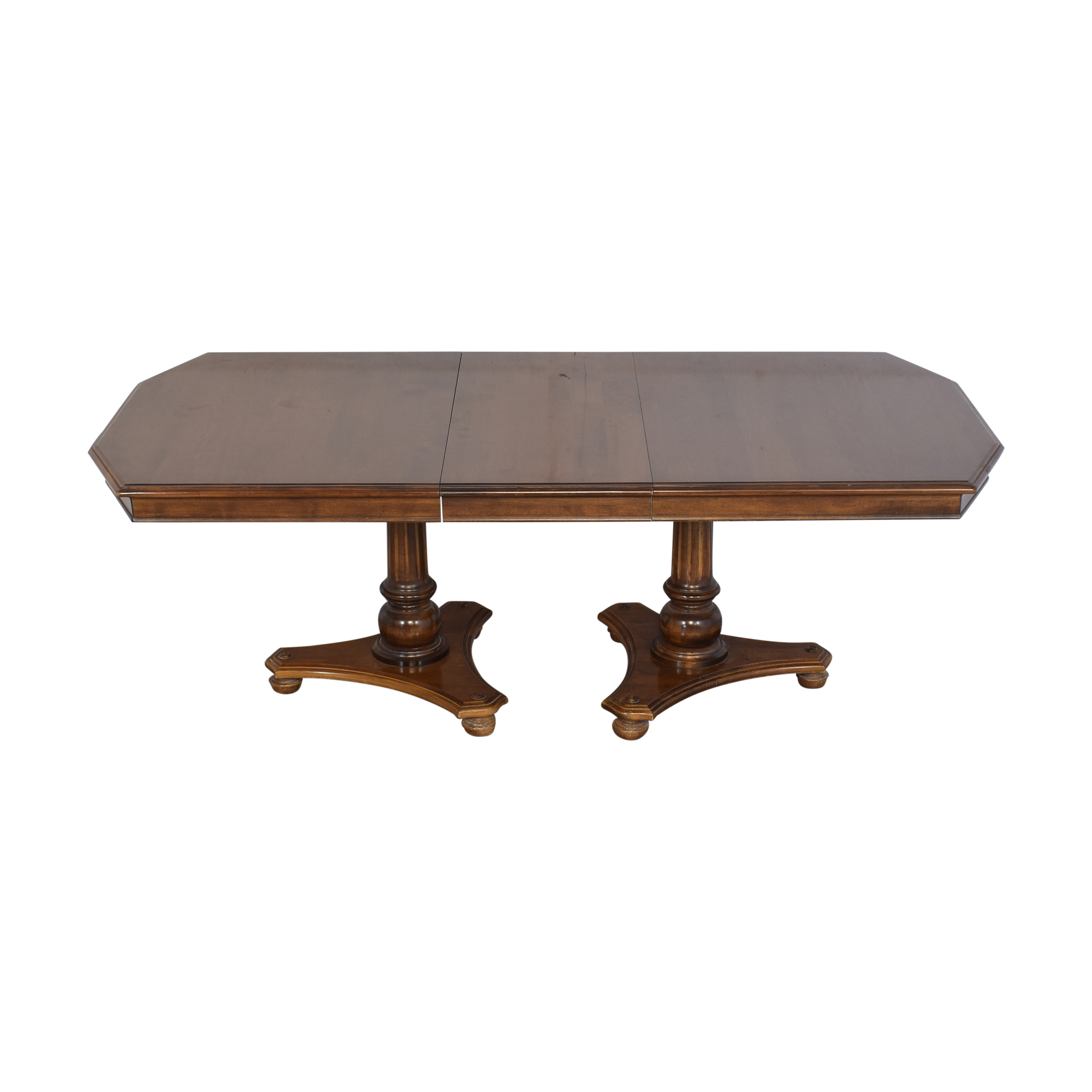 Ethan Allen Ethan Allen Extendable Double Pedestal Dining Table used