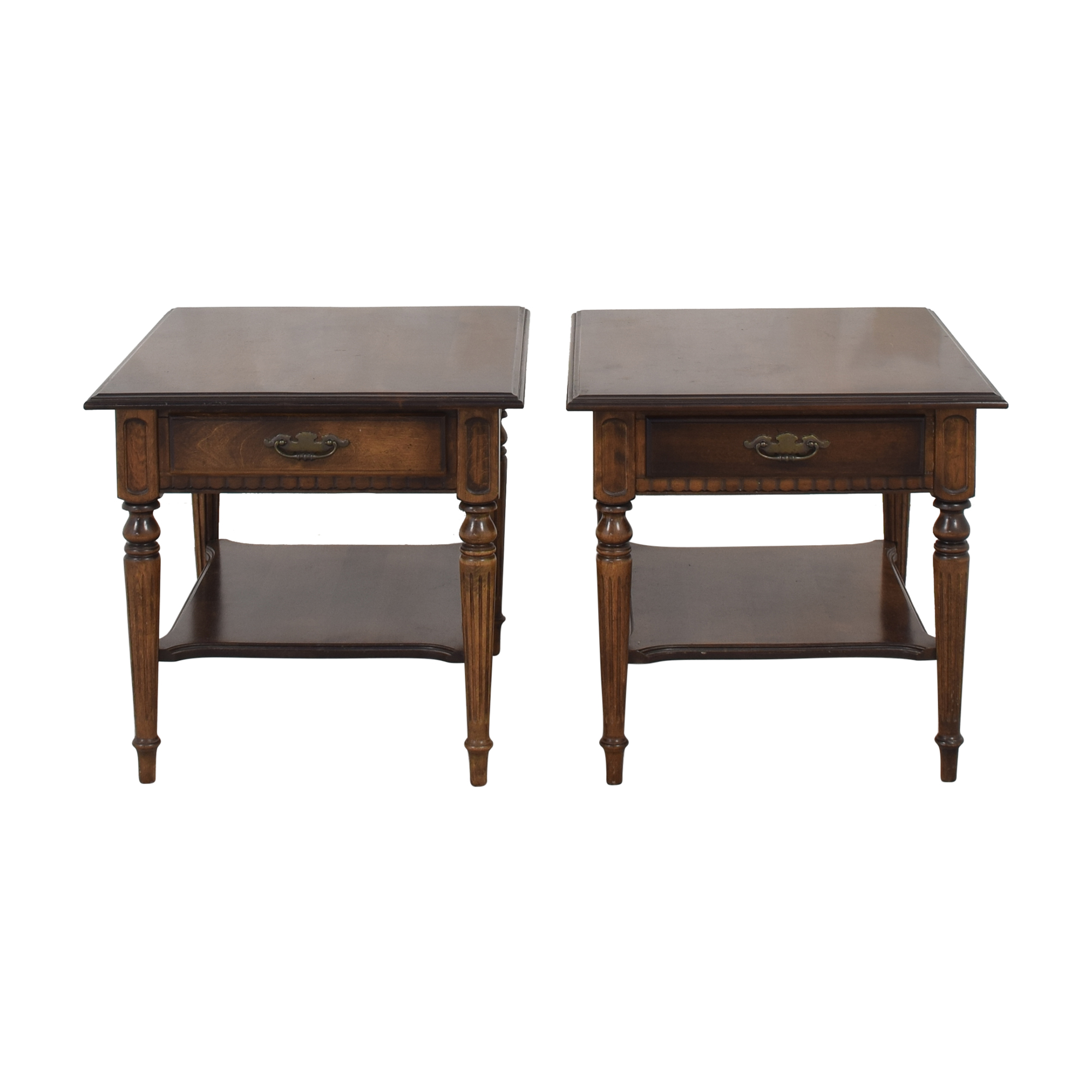 Ethan Allen Ethan Allen Oversized End Tables brown